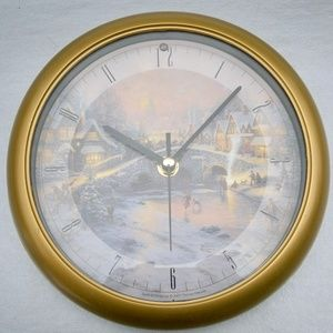 Thomas Kincade Christmas Carol Chiming Clock